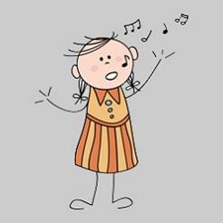 plaatje zingen kinderen